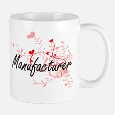 Manufacturer Artistic Job Design with Hearts Mugs