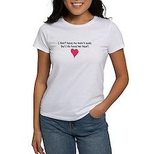 mom's heart women's t-shirt