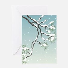Snowy Japanese Pine Greeting Card