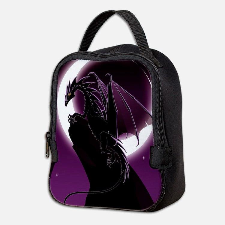 Purple Dragon Neoprene Lunch Bag