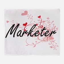 Marketer Artistic Job Design with He Throw Blanket