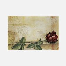 Da Vinci Letter Rose Rectangle Magnet