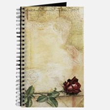Da Vinci Letter Rose Journal
