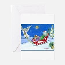 Unique Rabbit christmas Greeting Cards (Pk of 10)