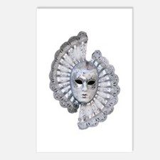 Venetian Silver Mask Postcards (Package of 8)