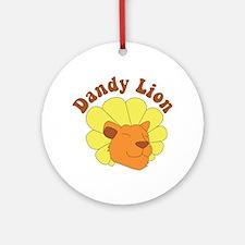 Dandy Lion Round Ornament