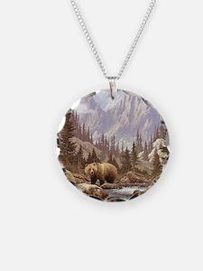 Grizzly Bear Landscape Necklace