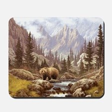 Grizzly Bear Landscape Mousepad