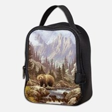 Grizzly Bear Landscape Neoprene Lunch Bag