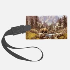 Grizzly Bear Landscape Luggage Tag
