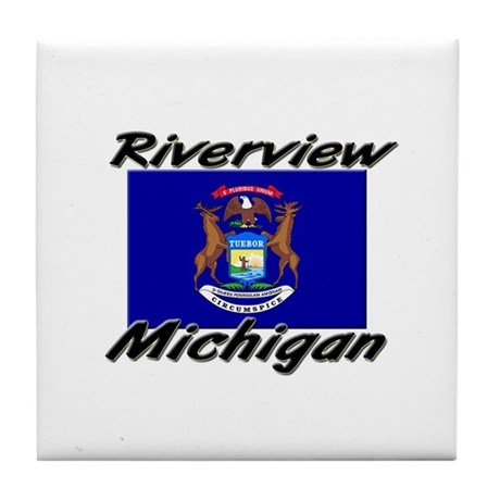 Riverview Michigan Tile Coaster
