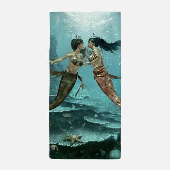Friendly Mermaids Beach Towel