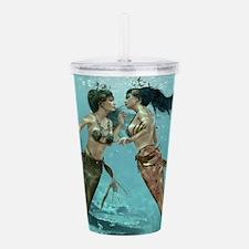 Friendly Mermaids Acrylic Double-wall Tumbler