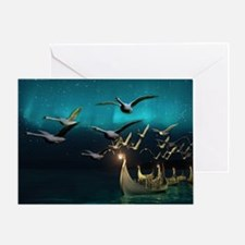 Aurora Voyage Greeting Card