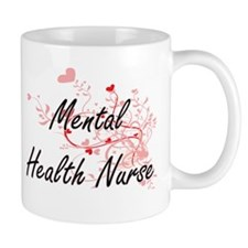 Mental Health Nurse Artistic Job Design with Mugs