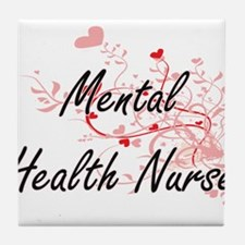Mental Health Nurse Artistic Job Desi Tile Coaster