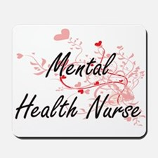 Mental Health Nurse Artistic Job Design Mousepad