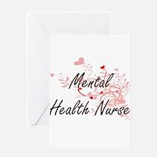 Mental Health Nurse Artistic Job De Greeting Cards