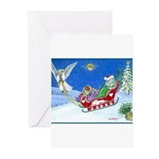 Funny Rabbit art Greeting Cards (Pk of 20)