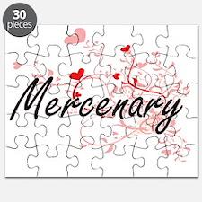 Mercenary Artistic Job Design with Hearts Puzzle