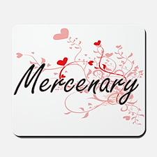 Mercenary Artistic Job Design with Heart Mousepad