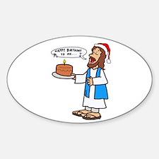 Happy Birthday Jesus Christmas Decal