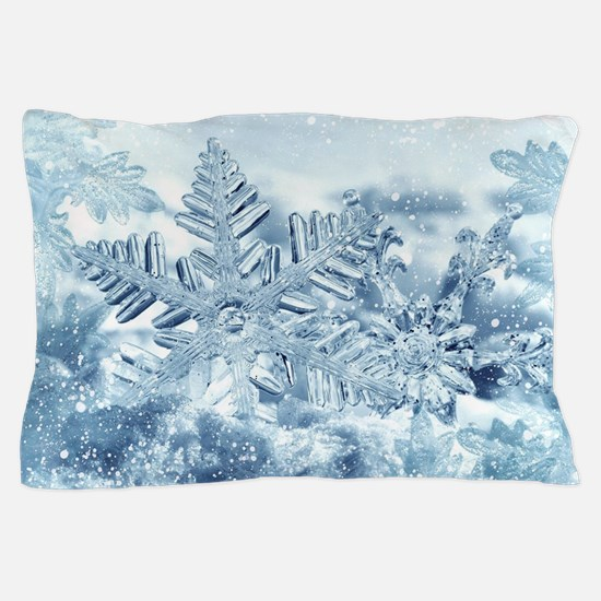 Snowflake Crystals Pillow Case