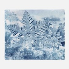 Snowflake Crystals Throw Blanket
