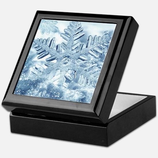 Snowflake Crystals Keepsake Box