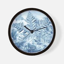 Snowflake Crystals Wall Clock