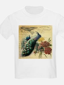 french botanical vintage peacock T-Shirt