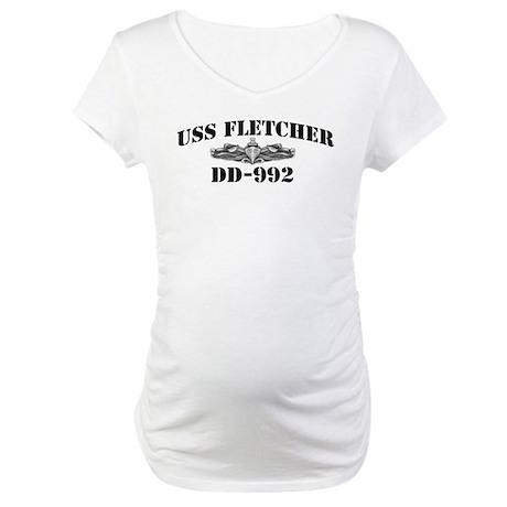 USS FLETCHER Maternity T-Shirt