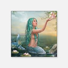 "Marine Mermaid Square Sticker 3"" x 3"""