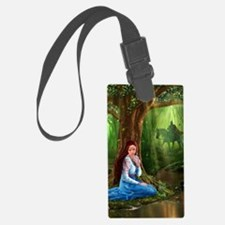 Medieval Lady and Knight Luggage Tag