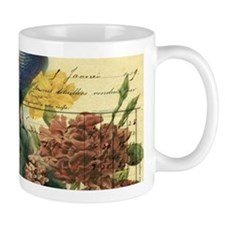 french botanical vintage peacock Mugs