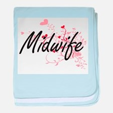 Midwife Artistic Job Design with Hear baby blanket