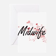 Midwife Artistic Job Design with He Greeting Cards