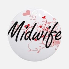 Midwife Artistic Job Design with He Round Ornament