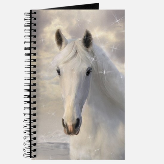 Sparkling White Horse Journal