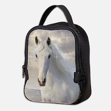 Sparkling White Horse Neoprene Lunch Bag