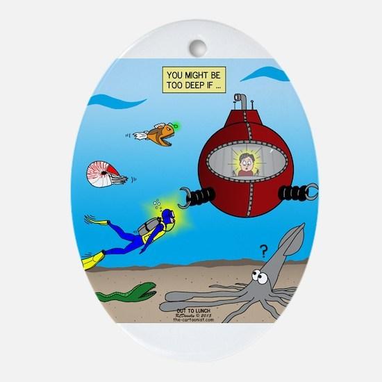 Deep SCUBA Oval Ornament