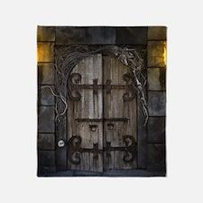 Gothic Spooky Door Throw Blanket