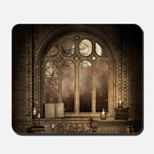 Gothic Library Window Mousepad
