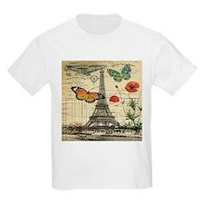 vintage butterfly paris eiffel tower T-Shirt
