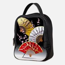 Japanese Cherry Fans Neoprene Lunch Bag