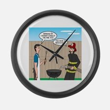 Dangerous Griller Large Wall Clock
