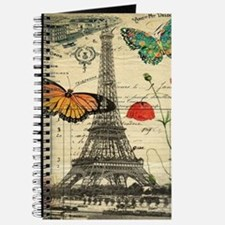 vintage butterfly paris eiffel tower Journal