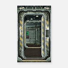 Space Ship Doorway Rectangle Car Magnet