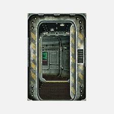 Space Ship Doorway Rectangle Magnet