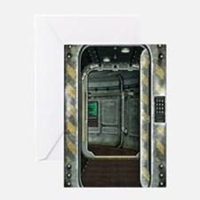Space Ship Doorway Greeting Card